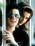 Michael Jackson Wearing Dark Glasses with Lisa Marie Presley