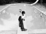 Michael Jackson at Home in Los Angeles by the Poolside  Lounging on Diving Board  February 23  1973