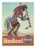 Santa Fe Railroad  Hopiland  Native American Hopi Indian  Arizona  1940s