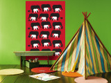 Red Elephant Pattern