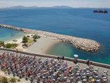 Peloton Along Mediterranean Sea, Third Stage of Tour de France, Marseille, July 7, 2009 Papier Photo
