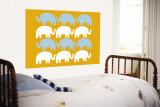 Orange Elephant Family