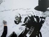 Fans Sign Tribute Wall to Michael Jackson outside the Staples Center  Los Angeles  July 7  2009