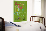 Green Rainbow Alphabet