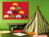 Red Counting Elephants