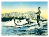 Sea Gods  Surf Riders at Waikiki  Hawaii c1930