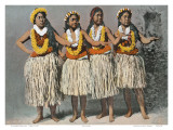 Hawaiian Hula Dancers  c1880