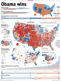 Obama Victory  Presidential Election 2008 Results by State and County