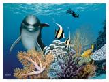 Coral Garden, Hawaiian Dolphin Reproduction d'art par Mark Mackay