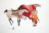 Ses chevaux Reproduction d'art par Carol Grigg