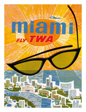Fly TWA Miami c1963