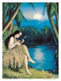 Hula Moon  Hawaiian Girl  c1930