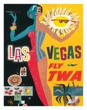 Fly TWA Las Vegas  c1960