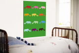 Green Rainbow Rhinos