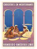 Hamburg Amerika Linie  Croisieres en Mediterranee c1930s