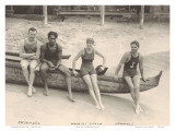 Duke Kahanamoku and Friends on Waikiki Beach  Honolulu  Hawaii