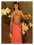 Banana Girl  Royal Hawaiian Hotel Menu  c1950