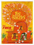 Fly TWA Los Angeles c1959
