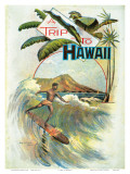 A Trip To Hawaii  Hawaiian Tourist Booklet Cover c1894