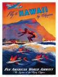 Fly To Hawaii by Clipper  Pan American World Airways c1940s