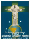 Pan American Airways Rio de Janeiro  Brazil  Christ on the Cross  c1955