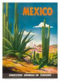 Mexico, Ciudad Juarez, Chihuahua, c.1950 Reproduction d'art par Magallón