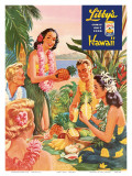 Hawaiian Luau  Libby's Pineapple Hawaii  c1957