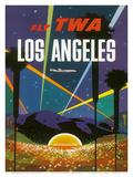 Fly TWA Los Angeles, Hollywood Bowl, c.1958 Reproduction d'art par David Klein