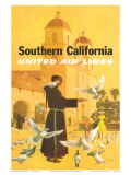 United Airlines Southern California  Spanish Mission  1960s