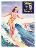 Surfer Girl  Libby's Pineapple Poster 1957