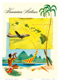 Hawaiian Airlines  Travel Brochure  c1950s
