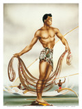 Hawaiian Net Fisherman  c1930s
