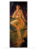 Firelight Hula  Hawaiian Pin-up Girl  c1920s