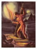 Night Fisherman  Cover from The Story of Hawaii  c1930s