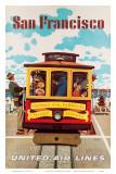 United Air Lines San Francisco  Cable Car c1957