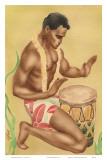 Hawaiian Kneeling Drummer  c1930s