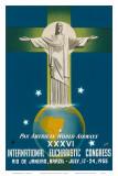 Pan American Airways Rio de Janeiro  Brazil  Christ on the Cross  c1955