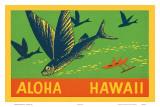 Flying Fish  Aloha Hawaii  c1940