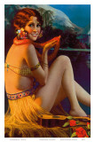 Starlight Wahine  Hawaiian Pin-up Girl  c1920s