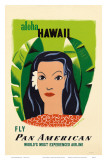 Aloha Hawaii  Fly Pan American Airways  c1953
