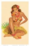 Hawaiian Pin-Up Girl, 1949 Reproduction d'art par Al Moore