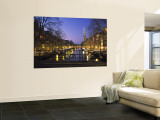 Prinsengracht and Wsterkerk  Amsterdam  Holland