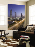 Sheikh Zayad Road and the Emirates Towers  Dubai  United Arab Emirates