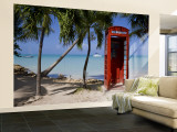 Caribbean  Antigua  Dickenson Bay  English Red Telephone Box