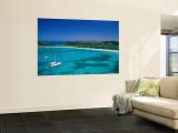 Deep Bay  Beach and Yachts  Blue Water  Antigua  Caribbean Islands