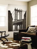 Manhattan Bridge and Empire State Building  New York City  USA