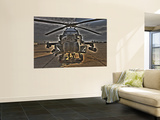 Seven Exposure HDR Image of an AH-64D Apache Helicopter as it Sits on its Pad