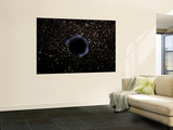 Artist's View of a Black Hole in a Globular Cluster