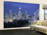 Seattle Skyline Fr Queen Anne Hill  Washington  USA