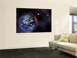 In This Artist's Visualization  the Earth is Shown at the Outer Edges of the Known Solar System